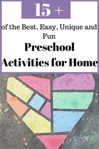 Unique,fun and free preschool activities for home that help with a three year old childhood development and parent and child bonding.