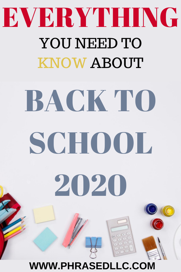 Everything a parent or teacher needs to know about Back to School 2020 reopening school plans,supplies and changes in school to help you make the right decision.
