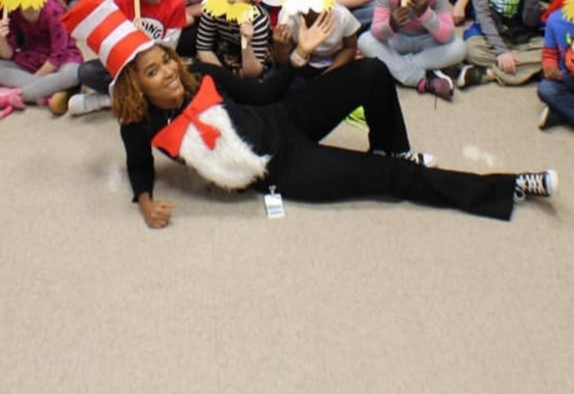 DIY book character costumes for teachers: The Cat in the Hat. Ideas for book character costumes that are homemade or diy. Story book character Cat in the Hat costume.