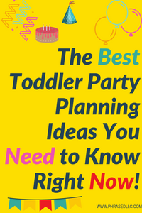 Toddler Birthday party ideas for boys and girls. Each has the theme, activities and can be adapted for indoor or outdoor purposes.