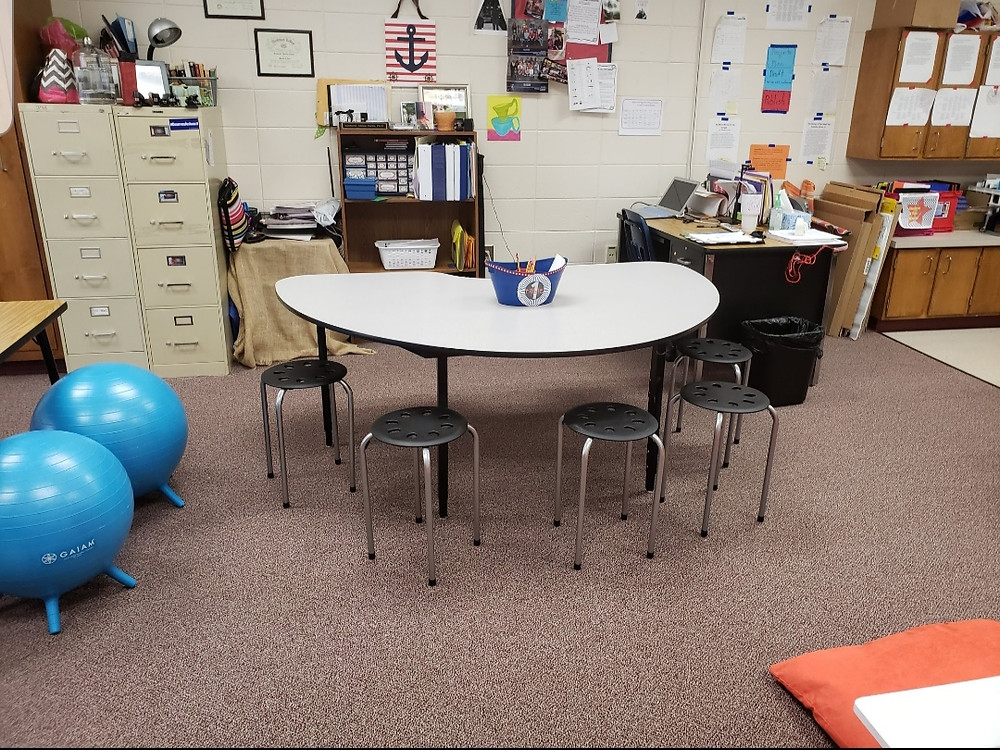 Stools are a great option for flexible seating chairs in your  in a Flexible Seating classroom.