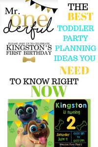 Get the best tips to plan your toddler's birthday party from cake to theme to location and food. Details on decoration, goodie bags and invitations that will be party pleasers.d treats