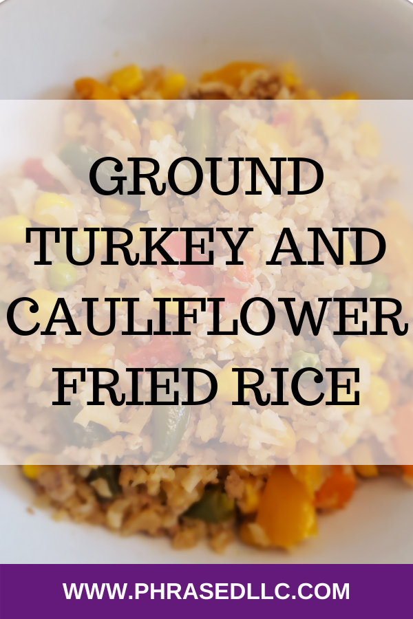 Healthy Ground turkey and Cauliflower Fried Rice Recipe that is delicious and filled with nutrients.