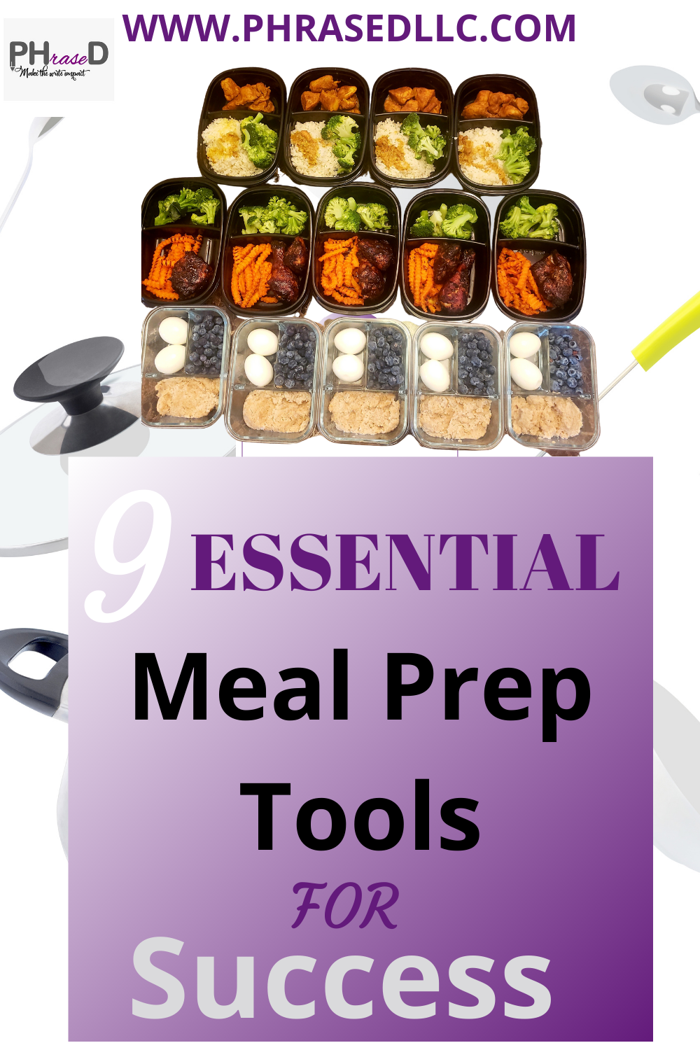 9 Essential Meal Prep Tools for Success that will help you to have a successful meal prep lifestyle.