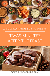 A funny teacher poem from one teacher to another about what happens after Thanksgiving, Christmas and Teacher appreciation feasts.