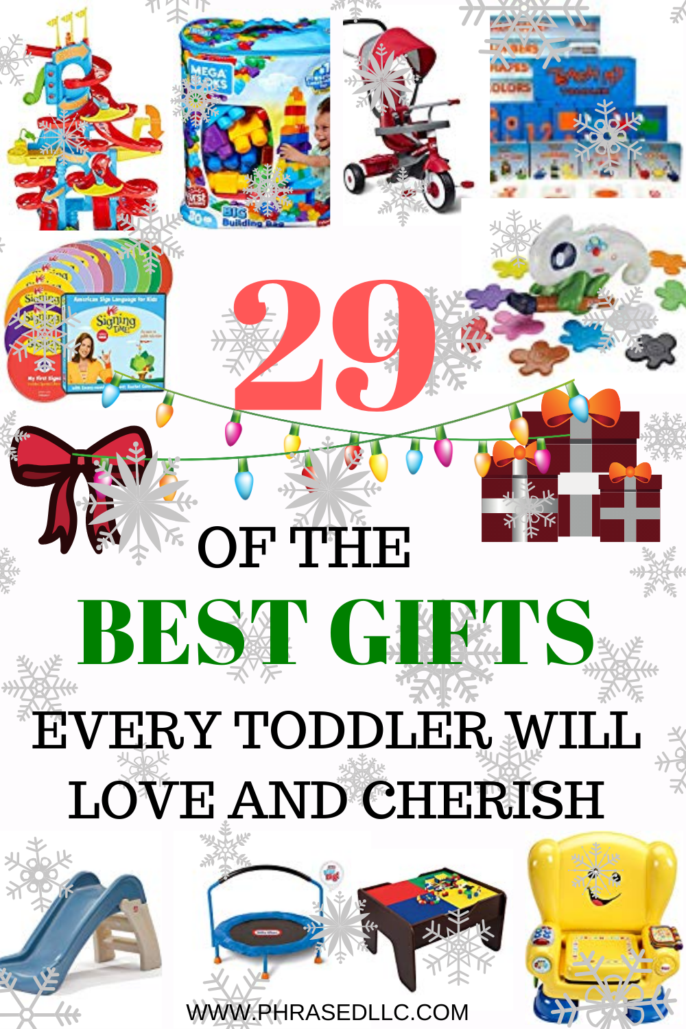 Best Toddler gifts that are not toys and can help them to learn, toys that can grow with them for several years and won't be tossed aside after Christmas day.