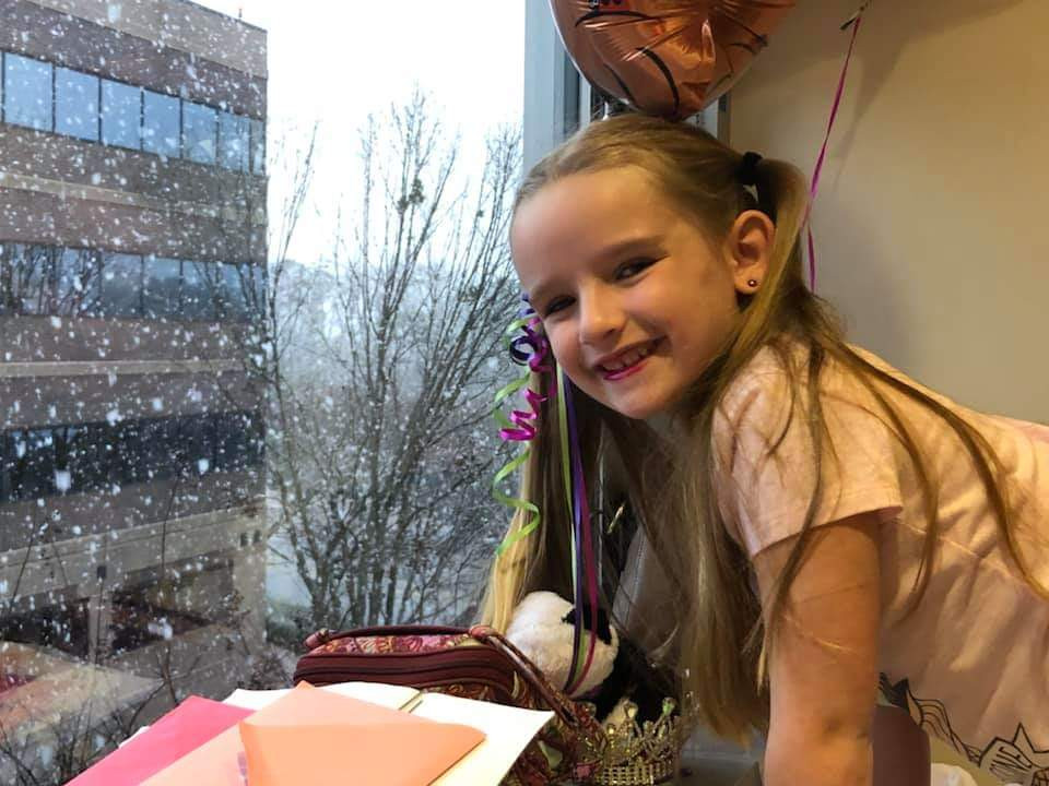 Madeline Monroe got a welcome happy surprise in the form of snow in Atlanta.