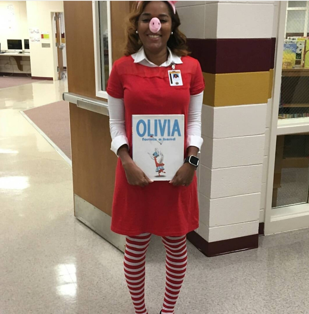 DIY book character costumes or storybook character costumes for teacher can be fun. I especially enjoyed dressing up as Olivia the pig. Ideas for book character costumes that will be favorites among your students.