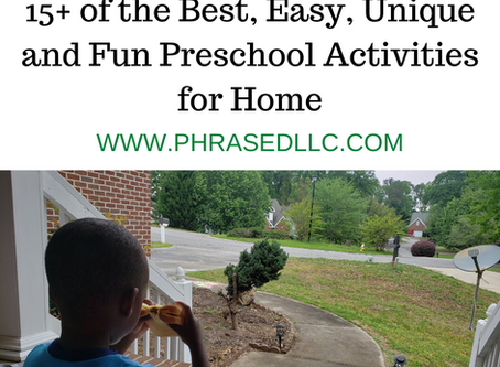 15+ of the Best, Easy, Unique and Fun Preschool Activities for Home