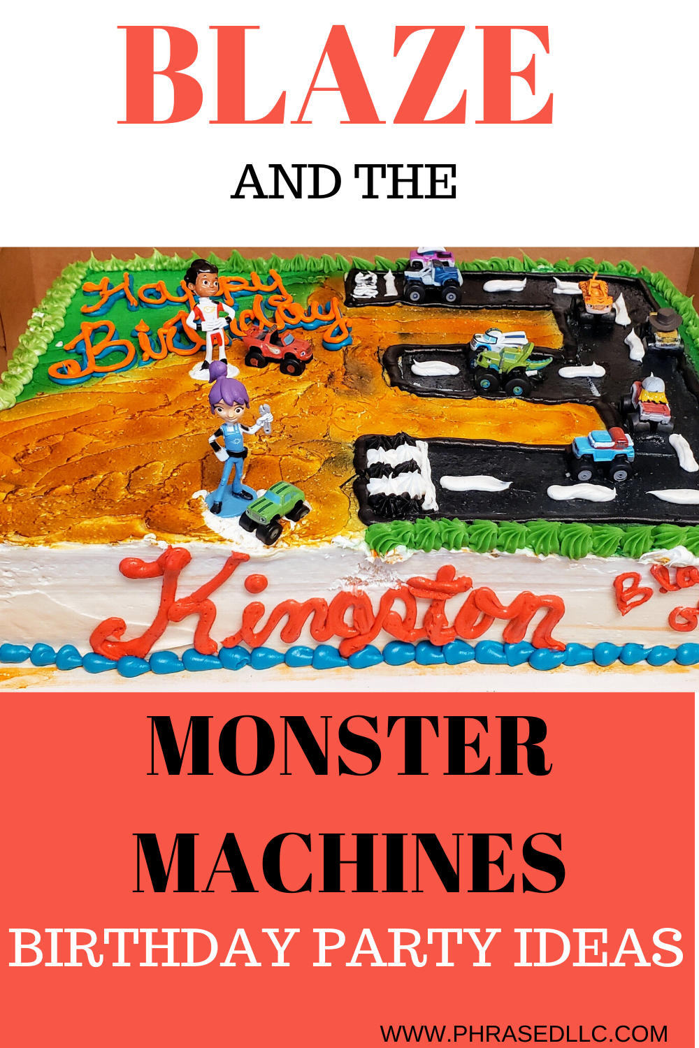 Blaze and the Monster Machines birthday party ideas. Everything from cake, decorations, activities, invitations, food and goodie bags.