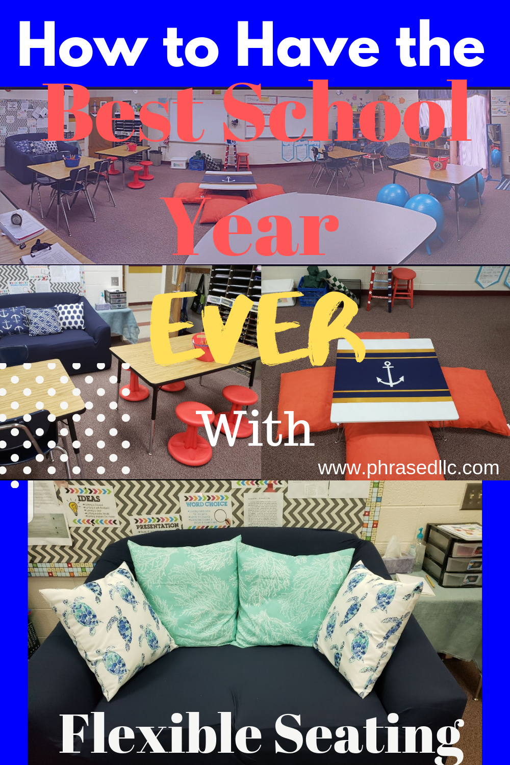 Find out how to have the best school year by implementing a flexible seating classroom.