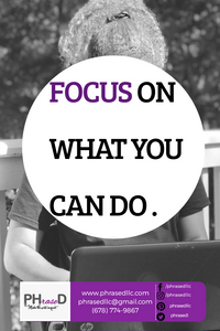 Don't worry about everything, just focus on what you can do