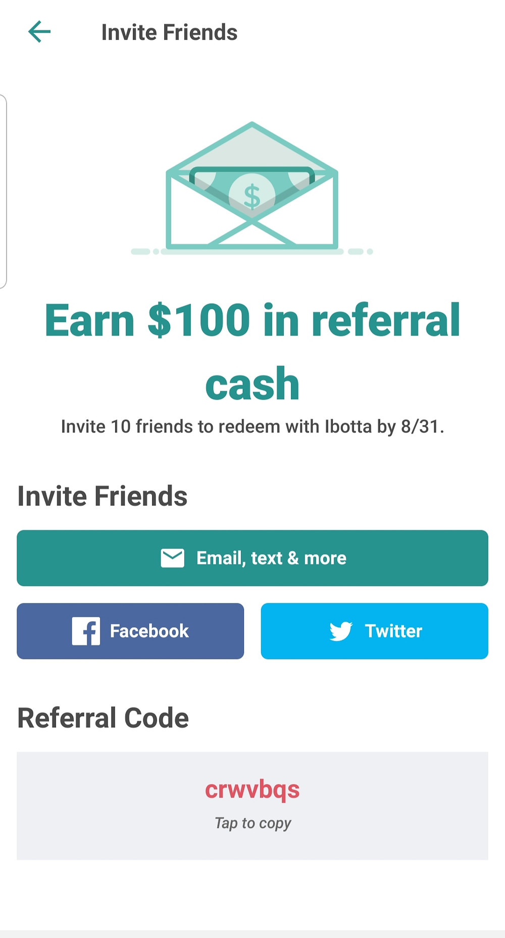 Learn how to use Ibotta: You can earn more money by inviting friends and family and working as a team to complete challenges.