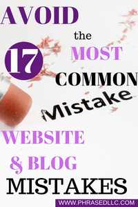 Avoid these 17 blogging mistakes for beginners.