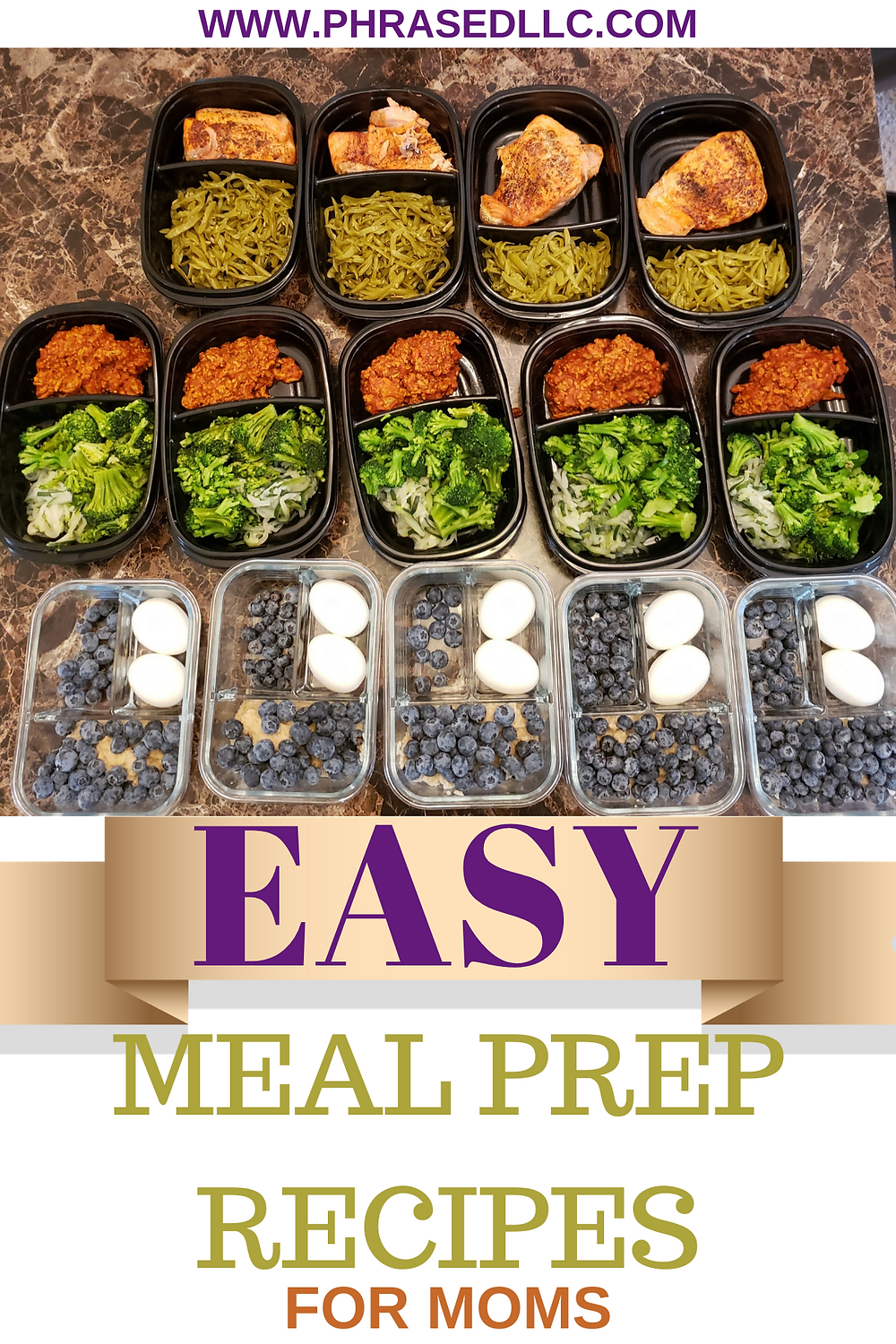 Easy meal prep recipes to get busy moms in and out of the kitchen quickly and back to achieving their health and fitness goals.
