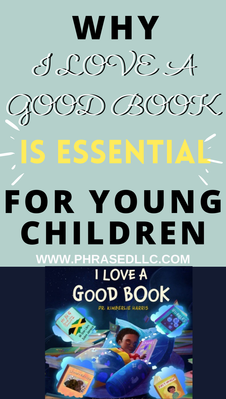 I love a good book is essential for young boys because it shows them in a positive way. It also shows diverse boys and a family reading.