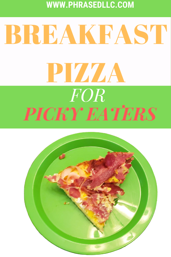 Toddler breakfast pizza recipe with eggs meal idea that will please even your picky eaters. Add hidden veggies and your favorite proteins to make it your own.