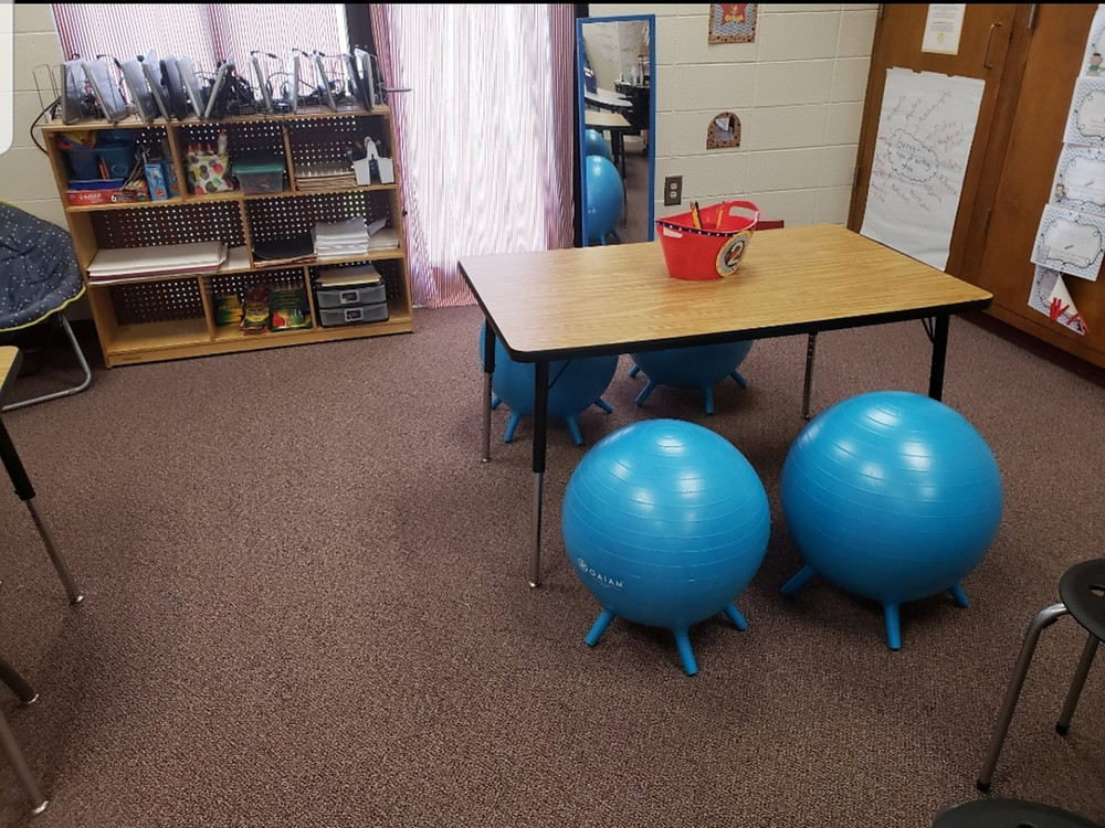 Yoga Balance Chairs are excellent flexible seating chair options that will help get your students moving while still being academically engaged.