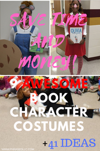 DIY book character costumes that are easy. Simple ideas for book character costumes that can be homemade from items in your closet.
