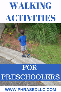 Walking activities, ideas and games for preschoolers. Suggestions on how to get your child to walk with you and the benefits of walking for kids.