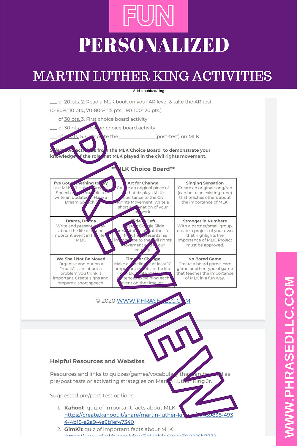 Games, practice and personalized activities to help students learn why Martin Luther King was important including facts, quotes, speeches, advocacy and civil rights movement activities.