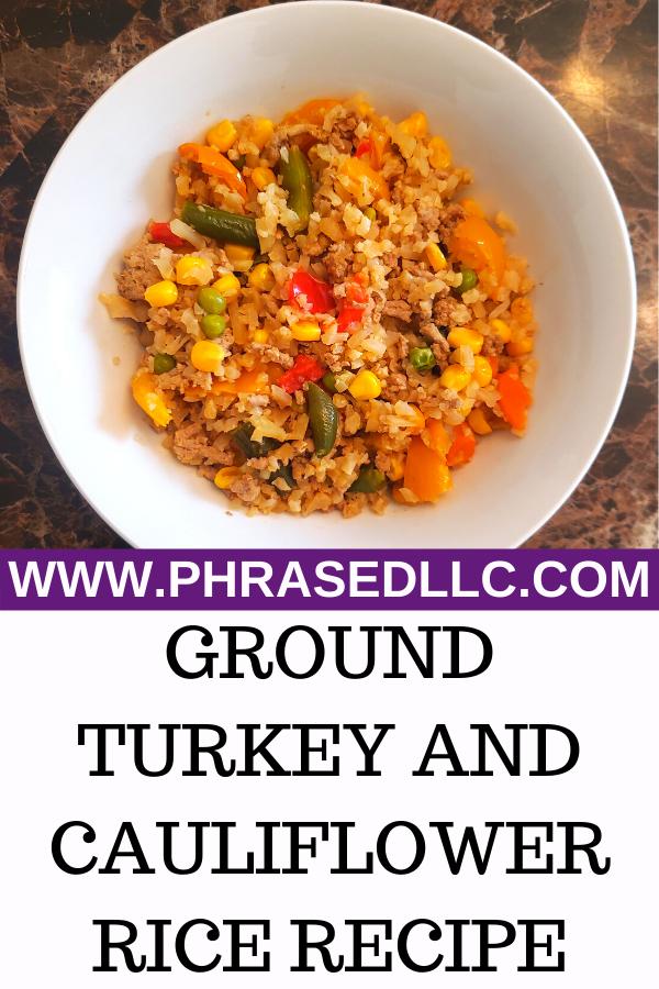 Ground Turkey and Cauliflower Fried Rice recipe