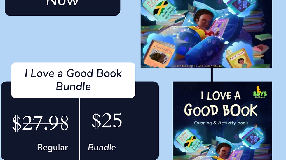 I Love a Good Book Bundle (1 hardcover book and the coloring & activity book)
