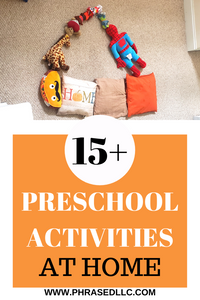 Preschool Activities at home for three year olds for Spring and homeschool