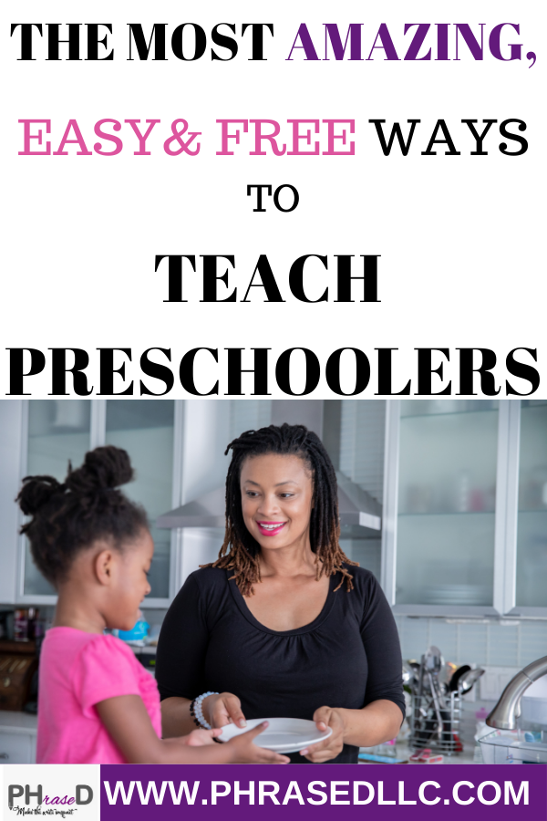 Learn how to use easy and free ways to teach your preschooler.