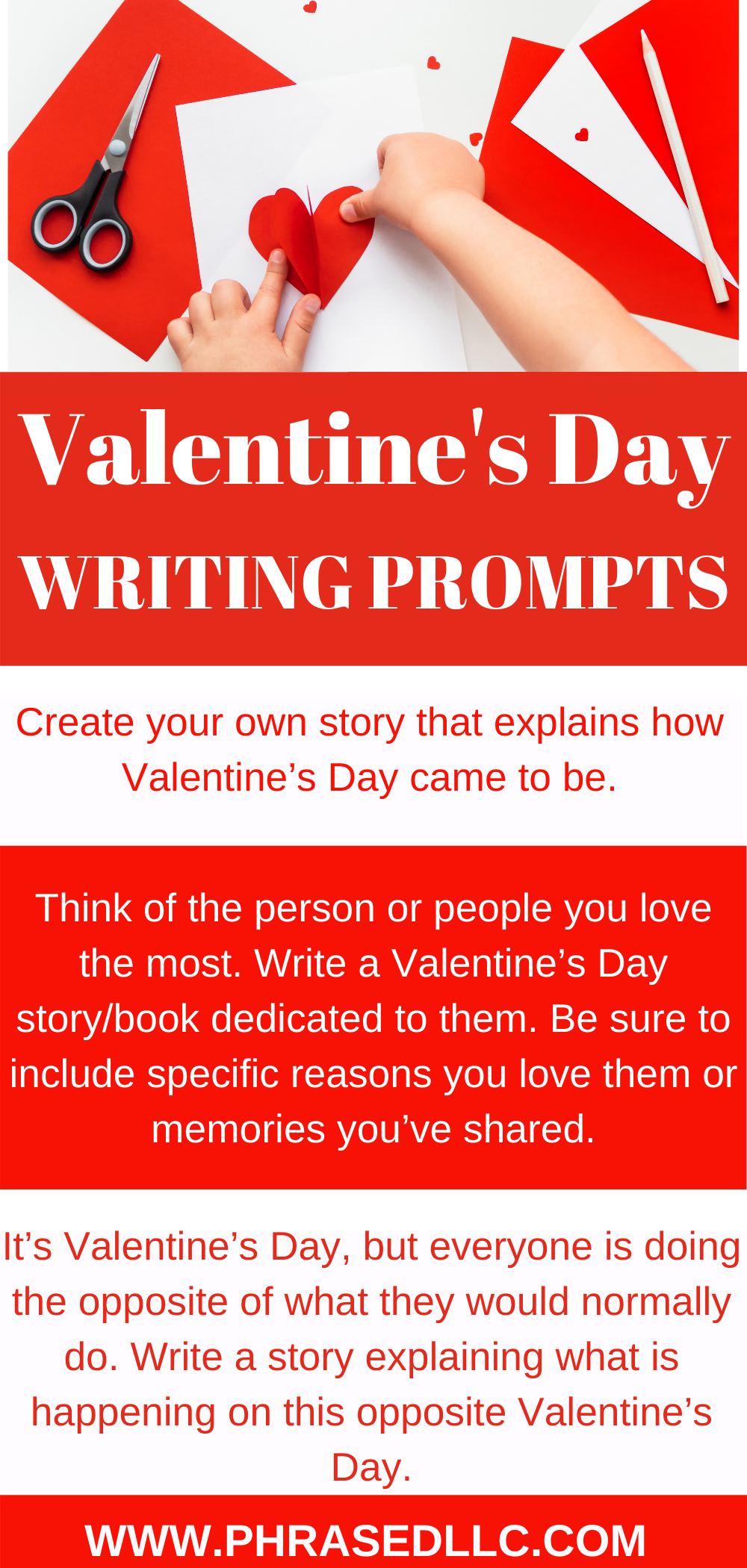 Use these Valentine's Day Writing prompts to get students to work on informational writing by researching the history of Valentine's Day. Also, get them to practice their narrative and opinion writing pieces as well.
