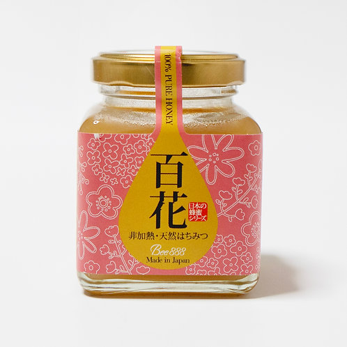 日本の蜂蜜シリーズ【百花】100g瓶タイプ