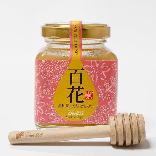 日本の蜂蜜シリーズ【百花】100g瓶タイプ+オリジナルハニーディッパーのセット