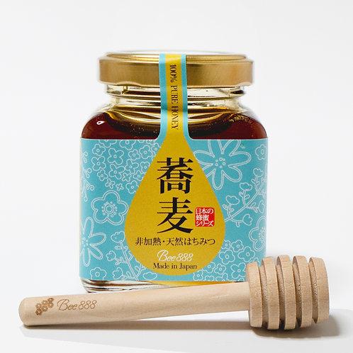 日本の蜂蜜シリーズ【蕎麦】100g瓶タイプ+オリジナルハニーディッパーのセット