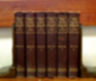 A collection of old law books owned by the Boles Law Firm
