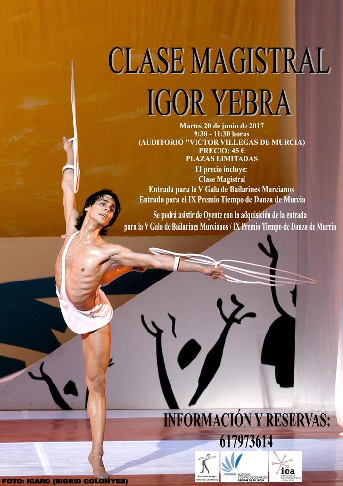 Igor Yebra impartirá Master Class