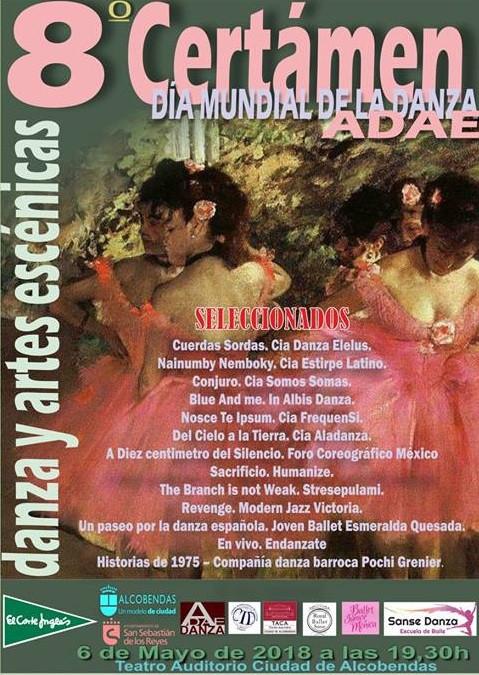 Gran Gala Certamen Día Mundial de la Danza, ADAE en Alcobendas