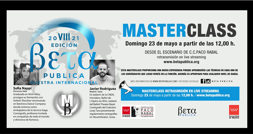 MasterClass 8ª Edición de BETA PUBLICA : Domingo 23 de Mayo a las 12.00