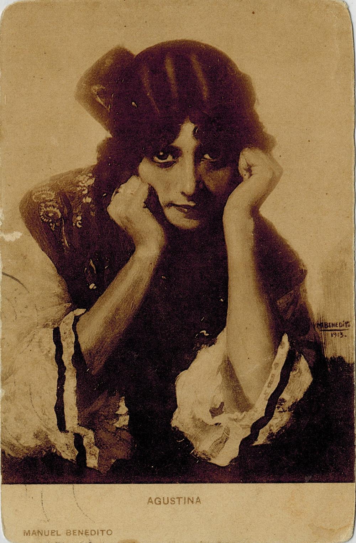Agustina postal de un cuadro de Manuel Benedito.jpg