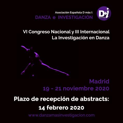 Convocatoria III Congreso Internacional y VI Nacional de la Investigación en Danza