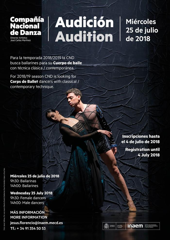 Convocatoria audiciones para la Compañía Nacional de Danza
