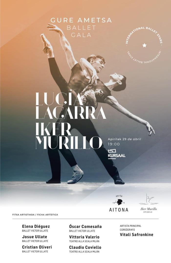"""Lucía Lacarra e Iker Murillo en la Gala """"Gure Ametsa"""" en el Kursaal"""