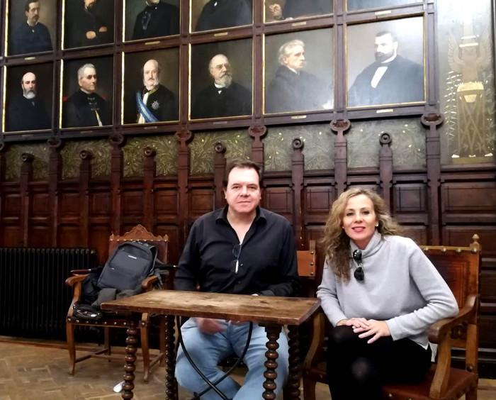 Malena Mexía y José Manuel Hernández Blanco en el Ateneo (entrevista)