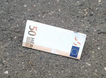 Nous avons dispersé des billets de 50€ partout en France