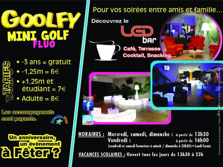 Goolfy organise vos soirées au Led Bar