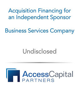 Independent Sponsor Financing - Access C