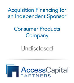 Independent Sponsor Economics - Access C