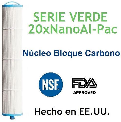 Cartucho El Poderos de 20 A 0.2 Micras Núcleo de bloque de Carbono