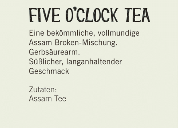 Five o' Clock Tea (100gr)