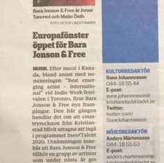 Kristianstadasbladet INES#Talent2020