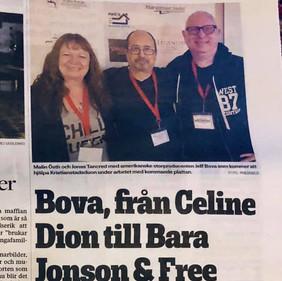 Bova, från Celine Dion till Bara Jonson And Free